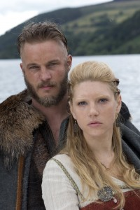 Travis Fimmel as Ragnar Lothbrok and Katheryn Winnick as Lagertha. (History Channel)